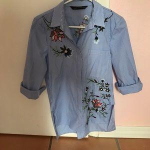 Zara Button Up Blouse